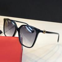 простой материал оптовых-Мода Женская Марка солнцезащитные очки 0330 сверхлегкий материал квадратная рамка Роскошные дизайнерские очки простой стиль анти-UV400 eyeywear с Case