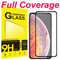 protector de pantalla iphone gratis al por mayor-Cobertura completa de vidrio templado completa Pegamento libres de la burbuja anti arañazos prueba de fragmentación Protector de pantalla para iPhone 11 Pro XS Max XR X 6 7 8 6S Plus