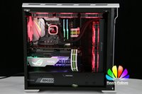 gráficos amd al por mayor-Soporte de tarjeta gráfica Soporte GPU Marco RGB / Aurora Control remoto SYNC Soporte de luz ASUS AURA Aluminio + Acrílico NUEVA Llegada