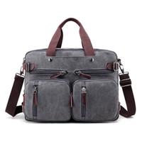 siyah 15 dizüstü bilgisayar sırt çantası toptan satış-Tuval 17