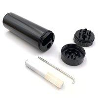 suportes para cigarros venda por atacado-Ejecção automática do metal Dugout Com Herb Grinder alumínio Uma Hitter Bat cigarreira Isqueiro Container Multifuction Cachimbo Cleaner
