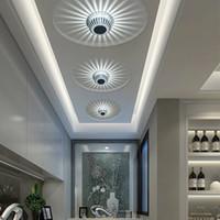лампы фонари потолочные оптовых-Светодиодное потолочное освещение 110-240V фонарь светодиодный потолочный светильник 3 Вт КТВ бар украшения коридор огни прихожая лампа гостиная лестница свет