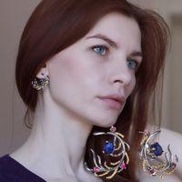 ingrosso pietre di colore nero per gioielli-Affascinante c Blue Rose color stones crystal CZ Black Gun placcato Accessori di gioielli Boemia grandi orecchini