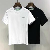 marcas de roupas china venda por atacado-2019 SS Nova Chegada Top Quality Marca Designer de Roupas Masculinas T-shirt Moda Feminina Imprimir Tees China Tamanho M-3XL 6126