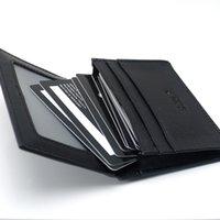 лучшие визитные карточки оптовых-Лучшие бизнес запонки человек аксессуары костюм рубашка MB запонки, мужчины роскошные натуральная кожа MB бумажник большой емкости карты держатель лучший подарок