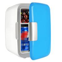 congélateur de voitures achat en gros de-1 pcs Liquidation De Stock Mini 4L Portable Réfrigérateur Réfrigérateur Congélateur Refroidisseur Réchauffeur Boîte pour Voiture Bureau À La Maison