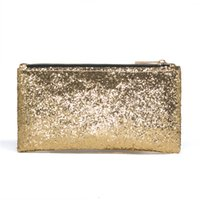 ingrosso spazzole di trucco giallo-CALDWELL Paillettes Lusso Cosmetico Bag Organizer Glitter Bling Paillettes Donne Wedding Party Makeup Brush Bag Giallo