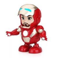 лучшие пакеты игрушек оптовых-2019 новый танец герой железный человек куклы игрушки 20 см танцы железный человек приходят с упаковкой коробки игрушки куклы супергероя лучшие подарки для детей игрушки