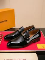 traje de baño transpirable al por mayor-Los nuevos zapatos de vestir de los hombres de la marca francesa de alta calidad de cuero transpirable del partido de los hombres visten los zapatos ocasionales del envío libre 40-45 tamaño