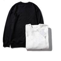 mangas de couro preto da camisola venda por atacado-Sweatershirt Hoodie Designer Sweat Luxo pulôver manga comprida com Letter Bordado Marca Knitwear 19ss Inverno Mens Clothing