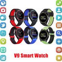 gravação de relógio grátis venda por atacado-V9 relógio inteligente android V8 DZ09 U8 relógios inteligentes SIM inteligente relógio do telefone móvel pode gravar o estado de sono relógio inteligente livre DHL.