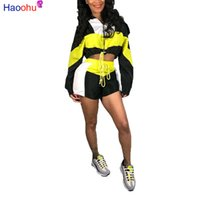 ingrosso abiti militari-Set da due pezzi Tuta da donna Abiti Festival Crop Top e biker Shorts Tute Sexy Club Outfit Set coordinati