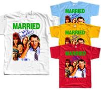 небесные майки xl размер оптовых-Женат с детьми V5, футболка (белый, красный, голубой, желтый) все размеры S до 5xlcolour Джерси печать футболка