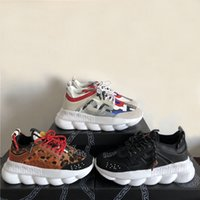 Wholesale man sport fashion for sale - Group buy Chain Reaction Designer Sneakers Sport Fashion Casual Shoes For Men And Women Trainer Lightweight Link Embossed Sole