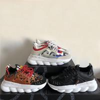 linked chain toptan satış-Zincir Reaksiyon Tasarımcı Sneakers Spor Moda Rahat Ayakkabılar Erkekler Ve Kadınlar Için Eğitmen Hafif Link-Kabartmalı Taban