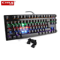 Wholesale backlit keyboard computer resale online - CHYI Mechanical Computer Gaming Keyboard RGB Backlit Gamer Keyboards Keys English Keycaps Wired Usb Game Keypad For PC Laptop