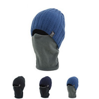 Wholesale running hats men resale online - Portable Durable Men Women Hats Acrylic Fibres Wool Knitting Skull Cap Outdoor Winter Keep Warm Hat ZZA895