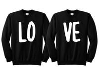 top süßes paar großhandel-Sugarbaby Liebespaar Sweatshirt niedlichen Paar Jumper passende Kleidung Valentinstag Geschenk Jubiläumsgeschenk hochwertige Tops