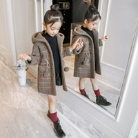 Wholesale wool clothes for babies for sale - Group buy Girls Winter Wool Coats Kids Fashion Thick Velvet Warm Hoodies For Baby Girl Children Cotton Outerwear Clothes Teenager Doorout
