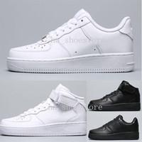calidades buen zapato al por mayor-Nike Air Force One 1 zapatos de hombre mujer malla negro blanco tamaño 36-45 gris zapatos de buena calidad
