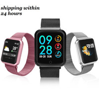 Wholesale bluetooth smart watch for android for sale - Group buy P68 Smart Bracelet Fitness Tracker Bluetooth Wristband Blood Pressure Waterproof Smart Watches for iPhone Android Cellphones with Box