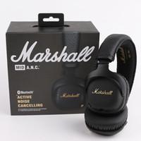 monitor marshall al por mayor-Marshall Major MK II 2 Black Headphones Nueva generación de auriculares con micrófono remoto 2do paquete MARSHALL MONITOR de calidad AAA