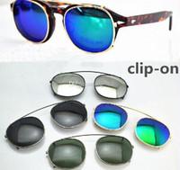очки солнцезащитные очки от солнца оптовых-Новые дизайнерские солнцезащитные очки lemtosh размера lemtosh с линзами и оправами для близорукости Flip Up поляризованные линзы клипсы