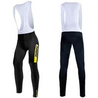 5766c023f28e6 Wholesale thermal cycling tights men online - MAVIC Winter Cycling Bib Pants  With D Anti Slip
