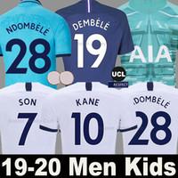 camiseta de fútbol de oro al por mayor-Tottenham Hotspur Camiseta de fútbol SPURS 19 20 NDOMBELE LUCAS soccer jersey hombres mujeres niños shirts 2019 2020 KANE SON ERIKSEN DELE portero calidad superior de Tailandia