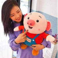 osos de peluche al por mayor-2019 año nuevo caliente juguetes de peluche muñeca de cerdo para niños y niñas regalos de envío gratis