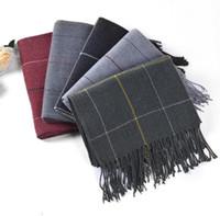 ingrosso sciarpe multiuso-L'autunno e l'inverno 2019 di spessore coreano plaid in cashmere sciarpa calda due lati versatile scialle sciarpa scozzese duplice scopo Cina delive libero del commercio all'ingrosso