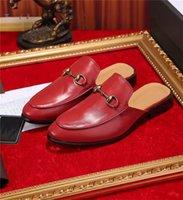 sapatos mocassim para mulheres venda por atacado-Sapatos Mulheres Moda Mens Leather Luxury Loafers Muller Mocassins chinelo com Buckle Tiger Chinelos Ladies Casual mulas Flats Sapatos Sneakers