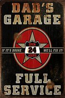 Wholesale wall art paintings for living room online - full service garage hotrod beer route66 mancave pinup girl cm motorbike metal Tin Sign Coffee Shop Bar Restaurant Wall Art deco Paint