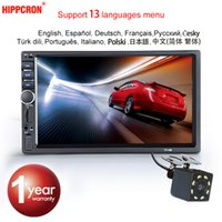Wholesale power dvd camera resale online - Hippcron Car Radio MP5 Din Bluetooth HD quot Touch Screen Stereo V FM ISO Power Aux Input SD USB With Without Camera car dvd