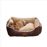almohadas de gato grande al por mayor-S / M / L / XL tamaño grande de lujo de cama del perro cojín del sofá del animal doméstico del gato para los perros grandes lavable Nido del gato de peluche del perrito de la perrera Mat Plaza casa de la almohadilla para mascotas