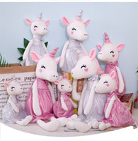 saia de sono branco venda por atacado-30CM macia Unicorn Com Vestido Plush Toy Pink White Plush Ballet saia Unicorn cavalo enchido animal Dormir Almofada criativa dos desenhos animados Unicorn