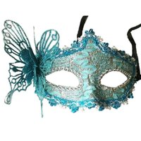 Wholesale black lace masquerade ball masks resale online - Sexy Women Lace Mask Venetian Masquerade Ball Party Carnival Face Eye green