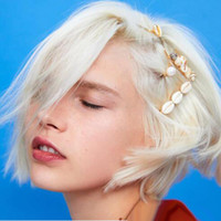 Wholesale asian hair bangs resale online - 5Pcs Set Women Hairpins Hair Clips Conch Bobby Pins Side Bangs Clips Barrettes Headwear For Lady Girls Fashion Hair Tool Accessories Jewelry