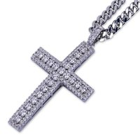 Wholesale silver 925 necklace gem resale online - Victoria Wick Luxury Jewelry Necklace Genuine Sterling Silver Paving White Topaz CZ Diamond Gems Cross Pendant Lucky Lady Necklace