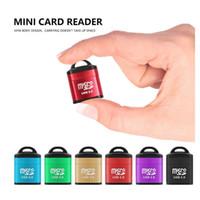 memória flash usb 64 venda por atacado-Adaptador USB 2.0 Micro SD T-Flash TF Leitor de Cartão de Memória suporte para 8 GB 16 GB 32 gb 64 GB 126 GB 256 GB