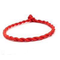 engelliebhaber großhandel-2 teile / satz Paar Armband Rot Seil Glücklich Armbänder oder Fußkettchen Männer Frauen Schnur Schnur Schnur Handgemachten Schmuck Liebhaber Geschenk