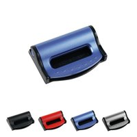 Wholesale pp clip for sale - Group buy Car Seat Belt Clip Adjustable PP TPR Safety Strap Buckle Black Red Blue Silver For Universal