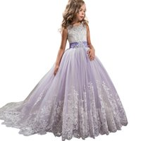 Wholesale clothing for bridesmaids for sale - New Carnival Costumes Flower Bridesmaid Party Wedding For Girls Kids Long Clothing Princess Dress Elegant Q190522