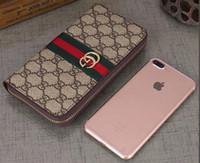 amerikanische telefone großhandel-Europäische und amerikanische Mode Brieftasche weiblichen langen Abschnitt 2019 neue Welle große Kapazität einfache Brieftasche einfaches Handy ändern