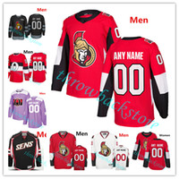 af54f4464 Custom Ottawa Senators Brady Tkachuk Jersey White Ryan Thomas Chabot Chris  Tierney Anthony Duclair Craig Anderson Magnus Hockey Jerseys