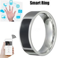 Wholesale nfc electronics resale online - 8mm Smart Ring NFC stainless steel Smart Electronics Intelligent Magic Smart Watches Devices for Andriod phones