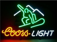 Wholesale glasses for ski resale online - New Star Neon Sign Factory X14 Inches Real Glass Neon Sign Light for Beer Bar Pub Garage Room Coors Light Skiing