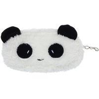panda münze geldbörse niedlich großhandel-Neue mini niedlichen plüsch panda stift federmäppchen kosmetik make-up tasche geldbörse brieftasche gut für geschenk b