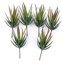 yapay bahçe bitkileri toptan satış-Gerçekçi Yeşil Sahte Yapay Sulu Aloe Yeşillik Sahte Plastik Yeşil Cactus Ev Bahçe Dekorasyon Yapay Tesisi Bitkiler