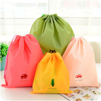 Wholesale shoe storage covers for sale - Group buy Cute Waterproof Storage Bag For Clothing Shoes Underwear Kawaii Organizer Bag Drawstring Housekeeping High quality